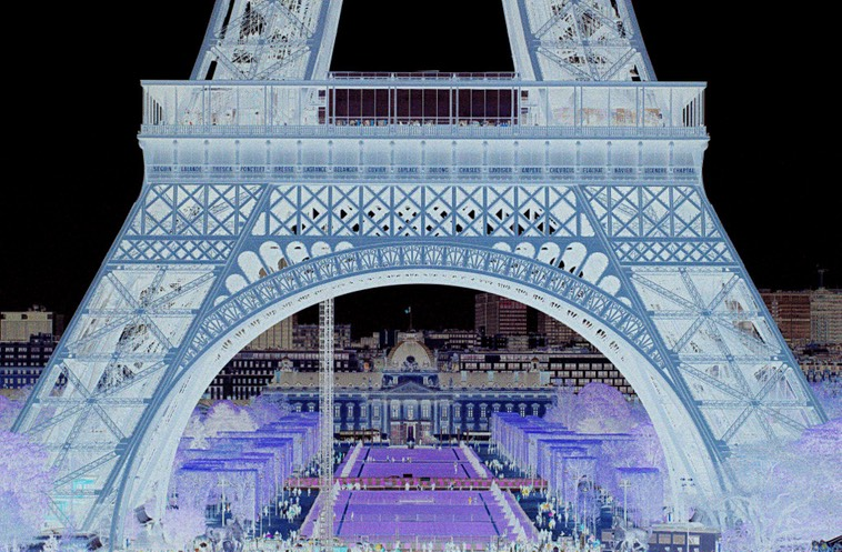 © J. Wallace Inverted Reality-Framed By Eiffel Tower