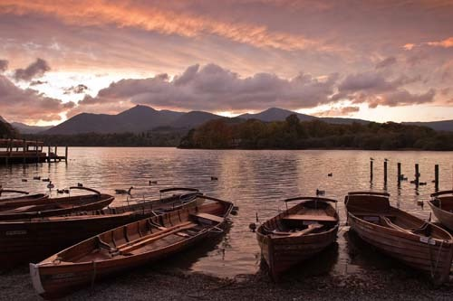Felicity Somerset Boats at Sunset